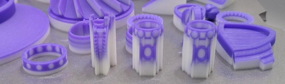 parts printed on polyjet 3D printer